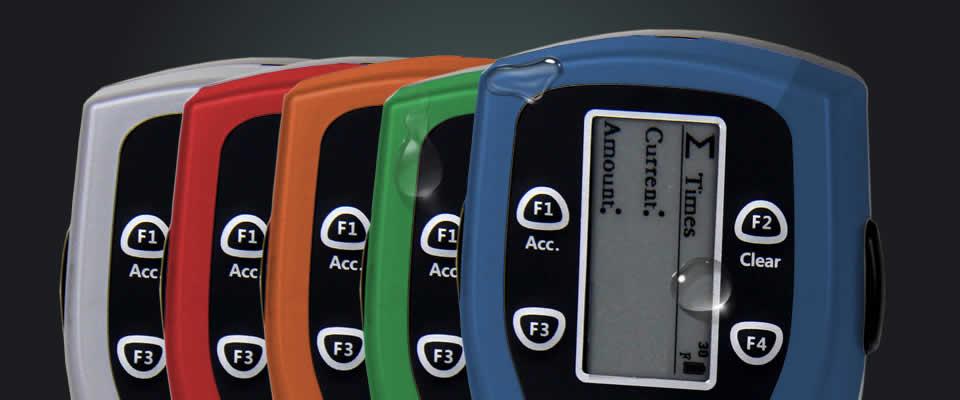 Swipe handheld card counter in custom colors
