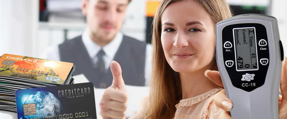 Swipe handheld card counter user-friendly